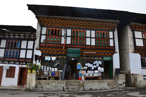 Traditionelles Haus in Mongar